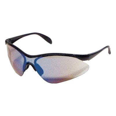 Dentec Miranda Safety Glasses, Black Frame/Blue Mirror Lens LENS  BLACK FRAME PADDLE TEMPLES  CSA