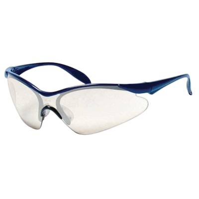 Dentec Miranda Safety Glasses, Blue Frame/Blue Mirror Lens LENS  BLUE FRAME PADDLE TEMPLES  CSA