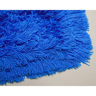 """Vileda Professional 24"""" x 5"""" HiStat Tie-On Dust Mop Head Refill BLUE  ACRYLIC WITH CUT-END COTTON FIBRES  FITS 5"""" FRAMES"""