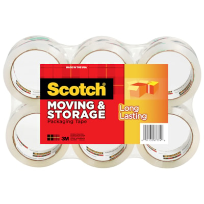 Scotch Moving and Storage Packaging Tape, 48 mm x 50 m, 6/PK 48MM X 50M