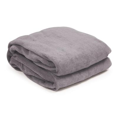 BIOS Living Micro Plush Electric Throw Blanket, Taupe HEATED THROW MICRO PLUSH 100% POLYESTER