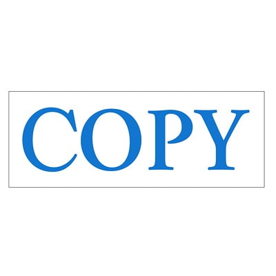 """Trodat Printy 4911 Climate Neutral """"COPY"""" Self-Inking Stamp STANDARD SIZE WATER BASED S-PRINTY"""