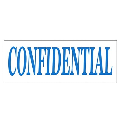 """Trodat Printy 4911 Climate Neutral """"CONFIDENTIAL"""" Self-Inking Stamp SELF INKING STD WATER BASED S-PRINTY"""