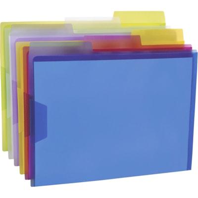 Pendaflex Poly View File Folders, Assorted Colours, Letter Size, 6/PK ASSORTED TRANSLUCENT COLOURS