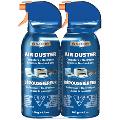 Emzone Air Dusters, 100 g, 2/PK FOR COMPUTERS AND ELECTRONICS REMOVES DUST AND DIRT