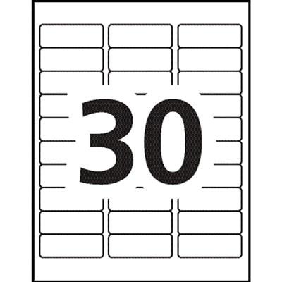 "Avery 45366 EcoFriendly File Folder Labels, White, 2/3"" x 3 7/16"", 30 Labels/Sheet, 20 Sheets/PK 3-7/16X2/3 30LBLS/SHT 20SHT/PK 600/PK INKJET & LASER COMPAT."