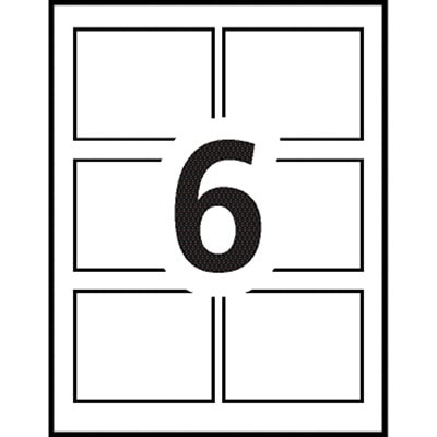 """Avery 5392 Name Badge Insert Refills, White, 3"""" x 4"""", 6 Badges/Sheet, 50 Sheets/BX 300/BOX FOR 05393 & 05384"""