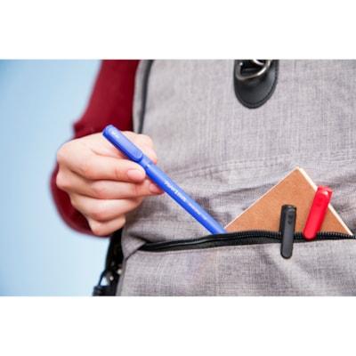 Paper Mate Ballpoint Stick Pens, Blue, Medium 1.0 mm, 60/PK MED. PLASTIC BARREL  CAP & CLIP  CARBIDE BALL  DISPOSIBLE