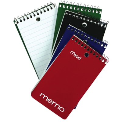 Mead Coil Memo Pad FEINT RULED WHITE PAPER SHEETS HILROY