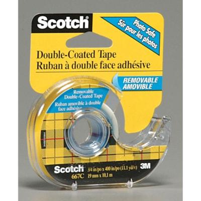 "Scotch Double-Sided Removable Tape 3/4"" X 400"" MATTE FINISH PHOTO SAFE"