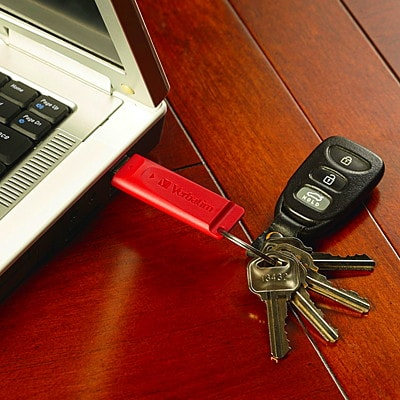 Verbatim Store 'n' Go USB Drives, Assorted Colours, 8 GB, 3/PK ASST COLOR  RETRACTABLE PASSWORD SECURITY AVAIL.