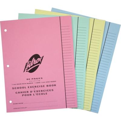 Cahier d'exercices pour l'école Hilroy PERFORE 3 TROUS  80 PAGES
