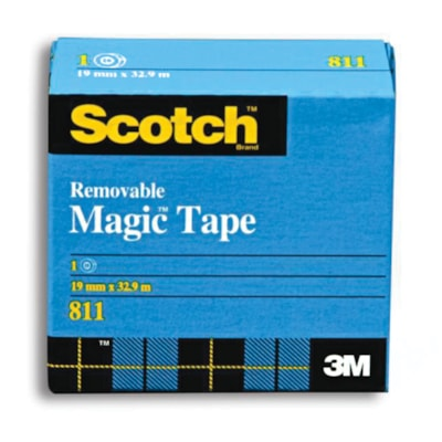 Scotch Removable Magic Tape Refill 19MM X 32.9M  SCOTCH BRAND HOLDS FIRM BUT REMOVES CLEAN