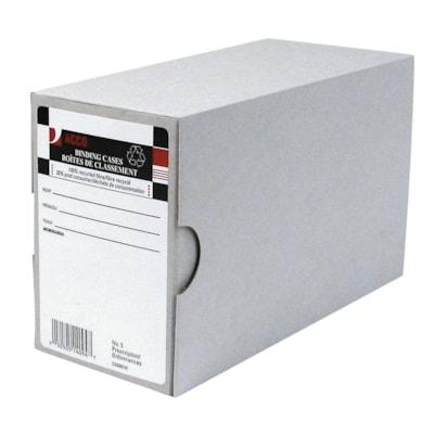 "Acco Arch File Binding Cases, Grey, #5, Prescription-Size 8-3/8 "" X 3-1/2 "" X 5-1/8 "" 3.5"" CAPACITY"