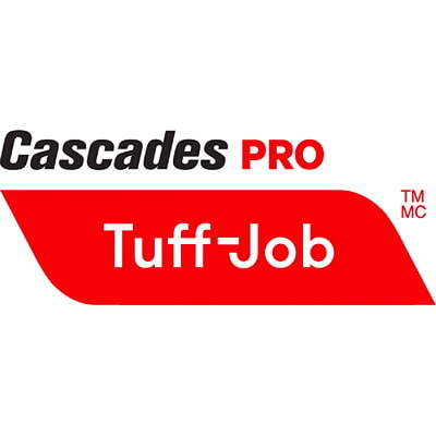 Cascades PRO Tuff-Job 2-Ply 1/4 Fold All-Purpose Paper Wipers, Brown, 800 Wipers/CT BROWN