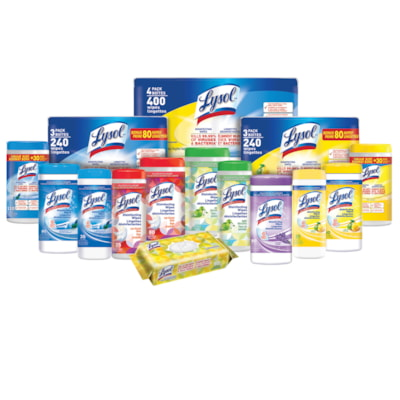 Lysol Disinfecting Wipes, Spring Waterfall Scent, 80 Wipes, 3/PK WIPES SPRING WATERFALL 3X80CT