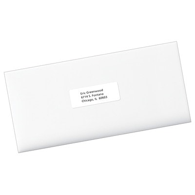 """Avery 5162 Easy Peel Address Labels, White, 1 1/3"""" x 4"""", 14 Labels/Sheet, 100 Sheets/BX 14/SHEET PERMANENT ADHESIVE AVERY 100 SHEETS/BX 1400/BX"""