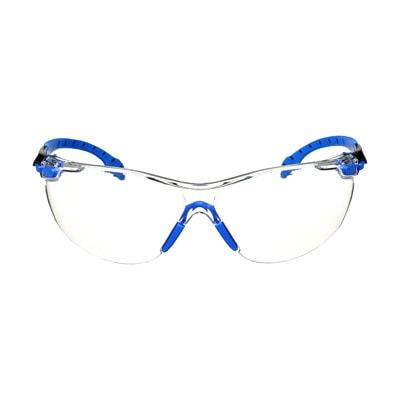 3M Solus 1000 Series Protective Safety Eyewear, Clear Lens with Scotchgard Anti-Fog Coating, Blue Frame BLACK/BLUE  CLEAR ANTI-FOG LENS
