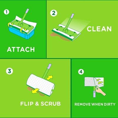 Swiffer Sweeper Wet Mopping Cloth Refills, Open-Window Fresh Scented, 12/PK WET CLOTH OPEN WINDOW FRESH