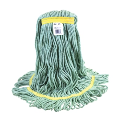 Globe Commercial Products Eco-Pro 20-oz Narrow-Band Wet Mop, Looped End MADE OF 100% RECYCLED MATERIAL LOOPED END  LAUNDERABLE