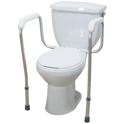 BIOS Living Toilet Safety Frame EAST ASSEMBLY  TOOL FREE WEIGHT CAPACITY 220LBS