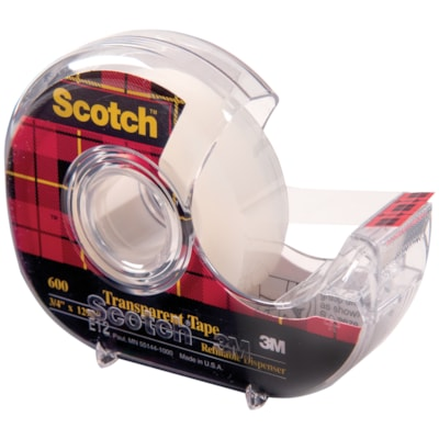 Scotch Transparent Tape with Refillable Dispenser 19mm 19MM X 32.9M