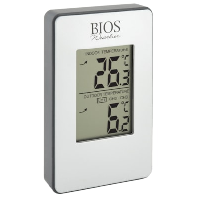 BIOS Living Wireless Indoor/Outdoor Thermometer -35°C TO 70°C/ -31°F TO 158°F MIN / MAX MEMORY