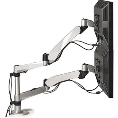 3M Easy Adjust Dual-Monitor Arm, Silver (MA265S) SILVER