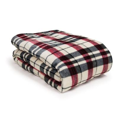 BIOS Living Micro Plush Electric Throw Blanket, Plaid HEATED THROW  MICRO PLUSH 100% POLYESTER