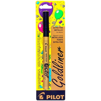Pilot Super Colour Gold Paint Marker METALIC INK - PERMANENT PARTY CARDED    REPL. SC-G-EF