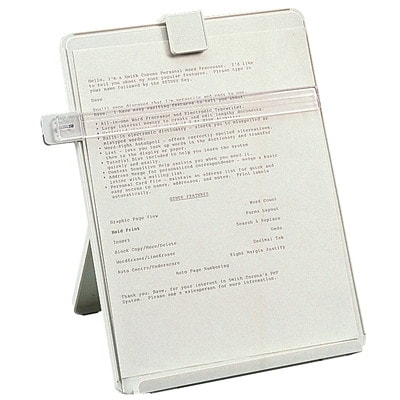 Porte-copie pour poste de travail Fellowes TOURTERELLE FORM LETTRE  GUIDE REGLABLE & AMOVIBLE  PLASTIQUE