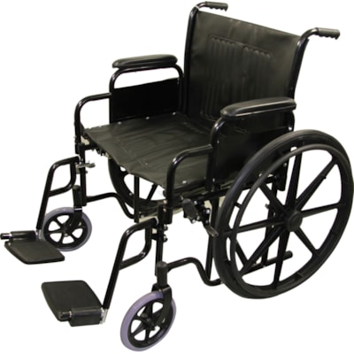 """BIOS Living Bariatric Wheelchair with Steel Folding Frame, 22"""" STEEL FOLDING FRAME REMOVABLE ARM AND FOOTRESTS"""