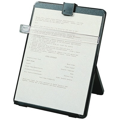 Porte-copie pour poste de travail Fellowes FORMAT LETTRE  REGLABLE 5 POS GUIDE REGLABLE & AMOVIBLE PLAS