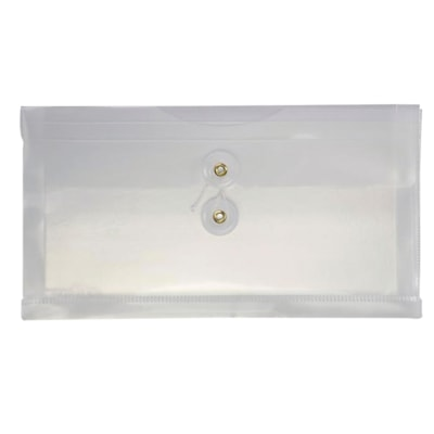 """Tops Clear Cheque-Size Expanding Envelope 5 """"X10"""" WITH 1 """" EXPANSON CLEAR"""