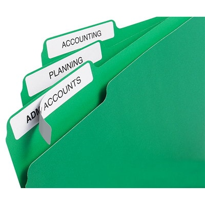 """Avery 5366 Filing Labels With TrueBlock Technology, White, 3 7/16"""" x 2/3"""", 30 Labels/Sheet, 20 Sheets/PK 3-7/16 X 2/3 INCH 600/PK"""