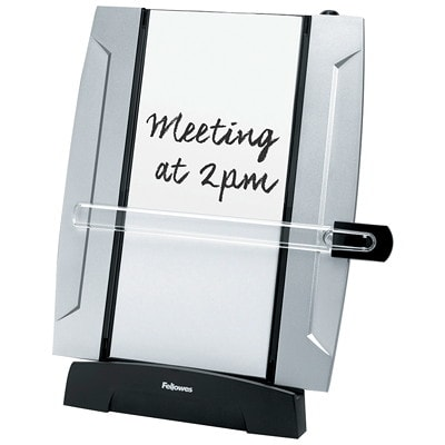 Fellowes Office Suites Desktop Copyholder With Memo Board BOARD TILTS UP OR DOWN HOLDS UP TO 150 SHEETS DRY ERASE