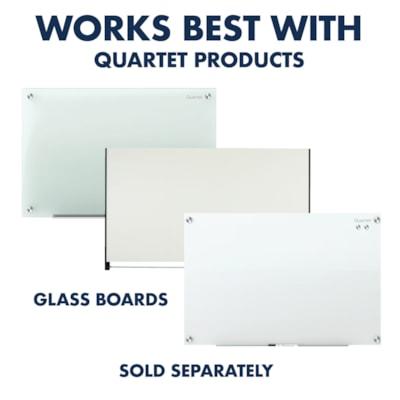 Quartet® Glass Board Rare Earth Magnets, Clear, 6/PK QUARTET FOR GLASS BOARDS