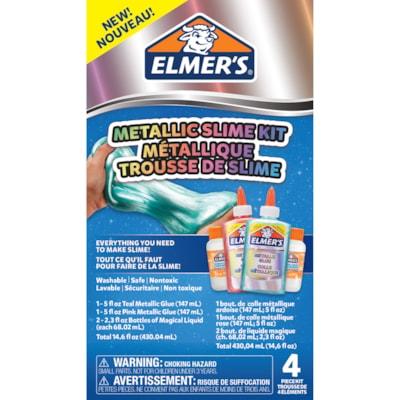 Elmer's Metallic Slime Kit, Teal/Pink