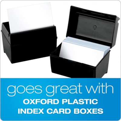 "Oxford Printable Index Cards, Ruled, 3"" x 5"", 100/PK MEDIUM WEIGHT"