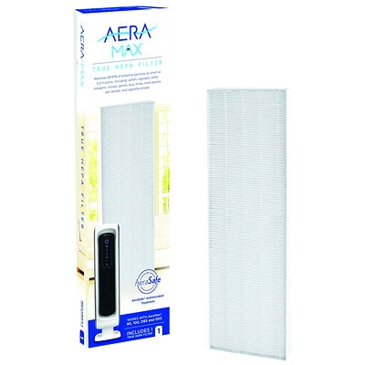 Fellowes AeraMax 90/100/DX5 True HEPA Filter with AreaSafe Antimicrobial Treatment, White REMOVES 99.97% AIRBORNE PARTIC PROTECTS AGAINST ODOR GROWTH