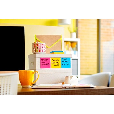 """Post-it Super Sticky Notes, White, 3"""" x 3"""", 70 Sheets/Pad, 5 Pads/PK 654-5SSW-C WHITE 3INX3IN (76MMX76MM)"""