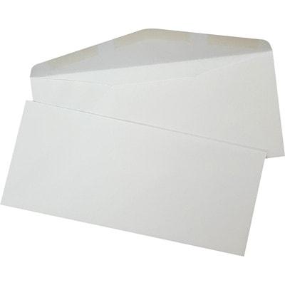 Enveloppes commerciales SupremeX, bout ouvert avec patte triangulaire, papier vélin blanc, nº 10, boîte de 500 24LB  WHITE WOVE FSC PAPER 500/ BOX