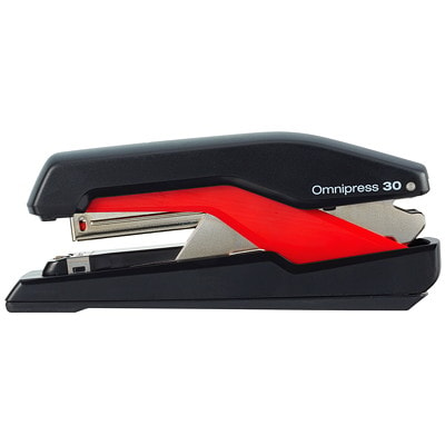 Swingline Supreme Omnipress SO30 Low-Force Stapler, Black/Red LOW FORCE STAPLER