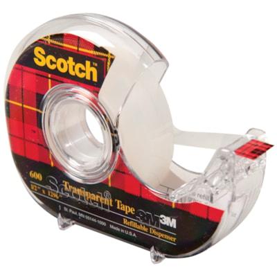 Scotch Transparent Tape with Refillable Dispenser 12.7mm 12.7MM X 32.9M