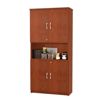 """Star Quality Zeta Series Bookcase/Storage Cabinet HENNA CHERY FINISH 31.5""""W X 13.8""""D X 65""""H"""