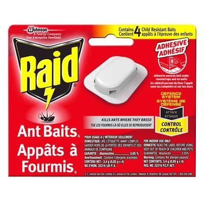 Raid Ant Baits, 4/PK 4-PACK