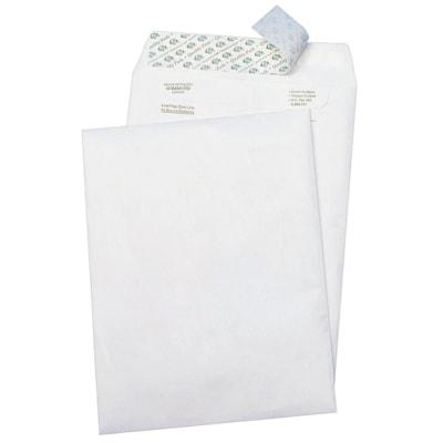 Enveloppes autocollantes en Tyvek DuPont Survivor Quality Park, blanc, 10 po x 13 po, boîte de 100 BOUT OUVERT 14 TYVEK PATTE AUTOCOLLANTE  25%FPC