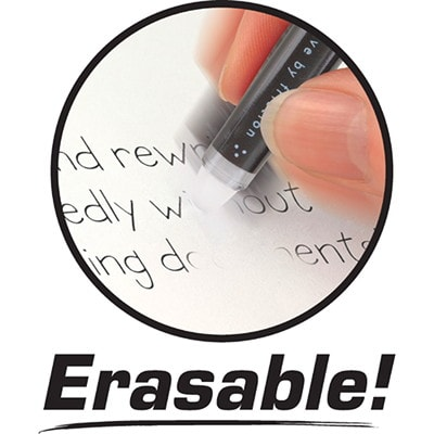 Pilot FriXion Ball Erasable Gel Stick Pens, Assorted Colours, Fine 0.7 mm, 6/PK ERASABLE  UNIQUE INK FORMULA ERASES WITH ATTACHED FRICTION