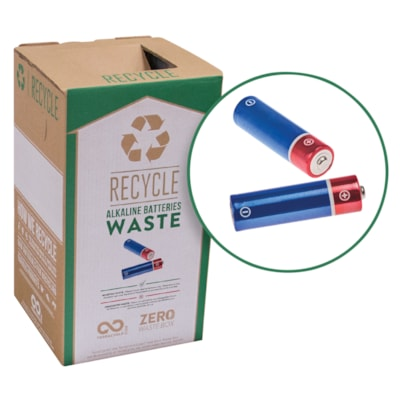 TerraCycle 298 Alkaline Batteries Zero Waste Box BOX DIMENSIONS: 10 X 10 X 18