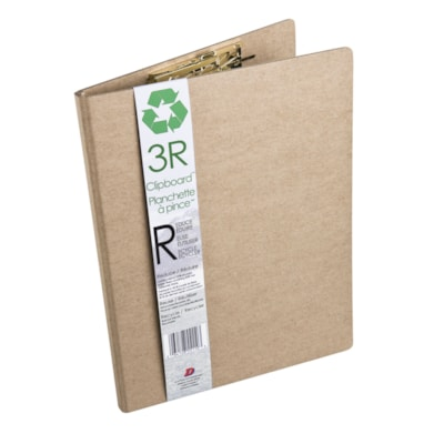 3R Recycled Clipboard KRAFT COLOUR  MADE OF 100% RECYCLED PAPER FIBRES